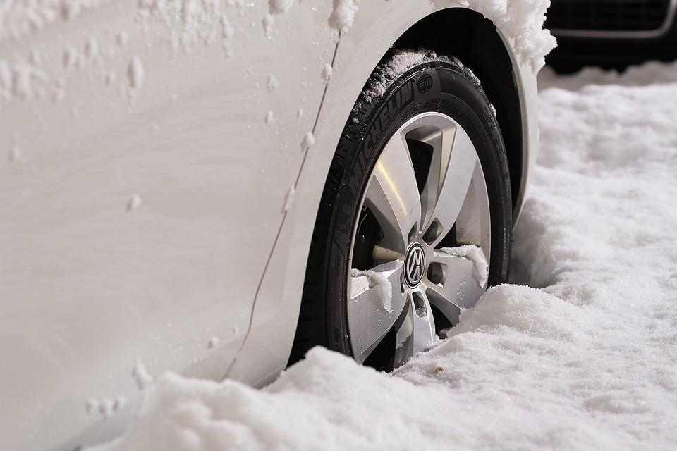 car on winter